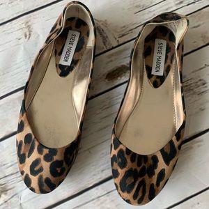 Steve Madden Leopard Print Round Toe Ballet Flats